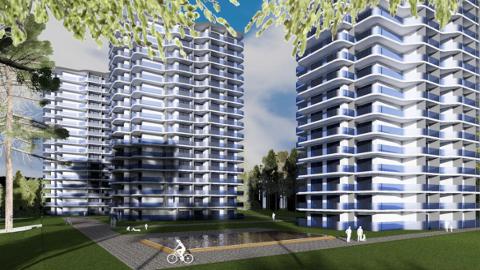 Sellistena peaksid linnavalitsusele esitatud eskiisi kohaselt hakkama välja nägema kolm 16korruselist kõrghoonet.